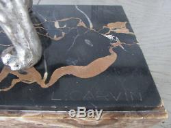Statue Regulates German Shepherd Sculpture Art Deco Signed L Carvin 1875-1951