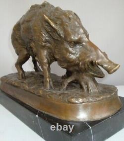 Statue Sanglier Animalier Hunting Style Art Deco Massive Bronze Sign