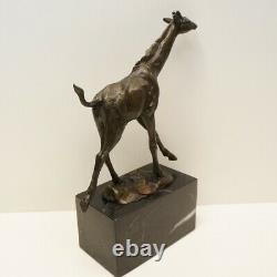 Statue Sculpture Animal Giraffe Style Art Deco Style Art New Bronze Massif