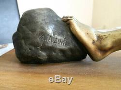 Statue Sculpture Art Deco Signed A. Azori Early Twentieth