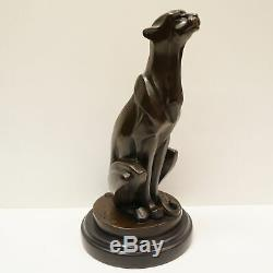 Statue Sculpture Cheetah Animal Style Art Deco Art Nouveau Bronze Massi