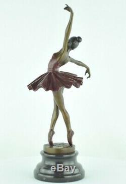 Statue Sculpture Dancer Classical Opera Art Deco Style Bronze Massive Sign