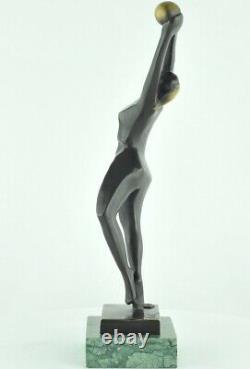 Statue Sculpture Dancer Nude Style Modern Style Art Deco Solid Bronze Sign