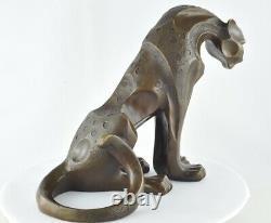 Statue Sculpture Dragon Animal Tree Style Art Deco Massive Bronze Sign