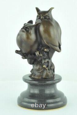 Statue Sculpture Owl Owl Animal Style Art Deco Solid Bronze Sign