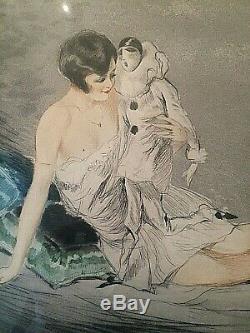 Super Burn Art Deco And Women Signed Pierrot J. Hardy