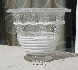Superb Pate Vase Glass Art Deco Applications Nets Sign Daum Nancy 1925