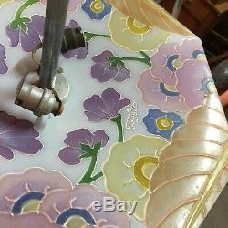 Superb Suspension Glass Paste Signed Etchaco Era Art Deco Very Good Condition