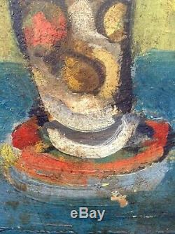 Table Dupouy Old Georgette (1901-1992) Museum Dax Bouquet Flowers Oil