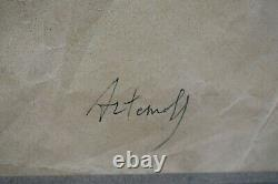 Table Former Nu Drawing In Red Chalk Signed Georges Artemoff Art Deco 1892-1965