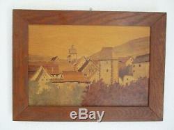 Table Marquetry Wood Elevate Spindler Alsace Kaysersberg Sign Aufderbruck