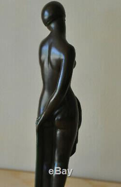 The Fayral Said Faguays For Max Le Verrier Art Deco Woman 30cm