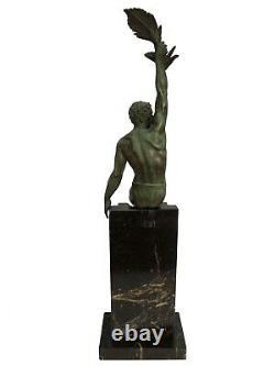 The Glory In Fonte D Art Signe Le Faguays Edition Max Le Verrier Art Deco C2682