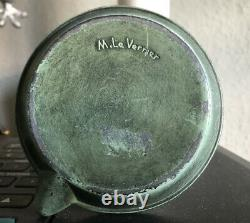 The Verrier Max (1891-1973) The Ashtray Ashtray With Green Patina Signed