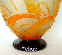 Vase Art Deco Art Nouveau 1925 Signs The French Glass Schneider Charder