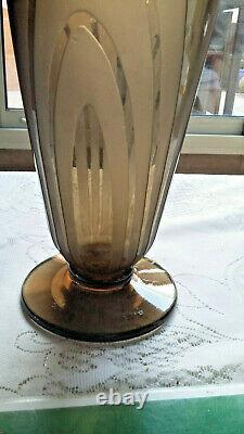 Vase Signed Charder Le Verre Français Art Deco 1910/1930 Unique Piece