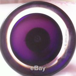 Very Chic Encrier In Crystal Of Lorraine Soufflé Signed St Siméon
