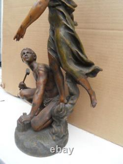Vintage Statue Art Deco Or New! The Glory At Work By Charles Vely
