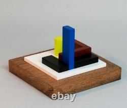 Wood Sculpture Polychrome Abstraction Neoplastics Signee Numerotee (10)