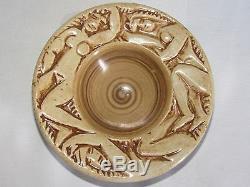 08d24 Ancienne Coupe Femme Nue Stylisée Céramique Art Déco Signe Edouard Cazaux