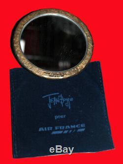 ANCIEN MIROIR DE POCHE signé JEAN BOGGIO POUR AIR FRANCE passage pour l'An 2000