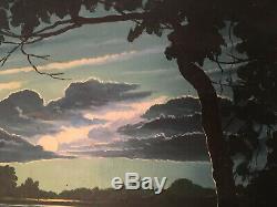 APA Tableau du Vietnam Indochine 1954 vietnamese painting indochina art lacquer