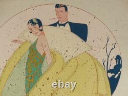 ART-DECO FRANCAIS 1925 GOUACHE AU POCHOIR signée Gaston MARECHAUX Superbe Mode