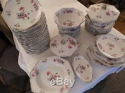 ART DECO service de table porcelaine de LIMOGES signé Touzé, Lemaitre et Blanchet