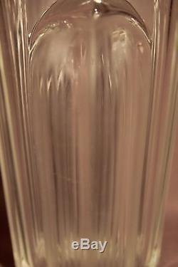 Ancien vase cristal époque art déco signé Verlys France