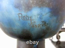 Ancienne veilleuse brûle parfum en verre et fer forgé signé ROBJ Paris. Art Déco