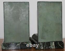 Anciens Serre Livres Regule Art Deco Signe Limousin Marbre Vert