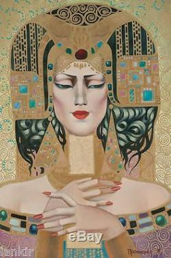 Asia Très Belle Huile Originale Art Deco Leonid PRONTCHENKO
