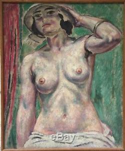 Augustin Carrera huile sur toile signée 1923 Opéra de Marseille art décor