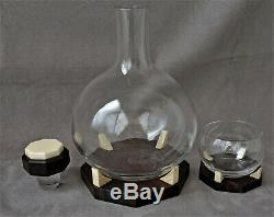 BACCARAT Rare Service à Liqueur Art Déco Design des Années 1930 Signé