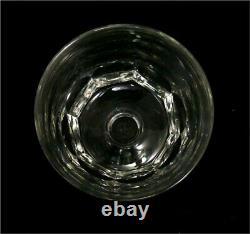 Baccarat, Art Déco, 8 verres à eau, 8,5 cm, signés, intacts, cristal taillé