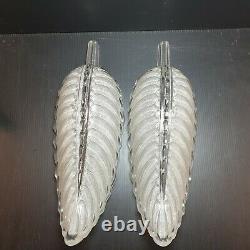 Belle Paire De Verres D'appliques Signes Ezan Design Feuille Art Deco 56 62