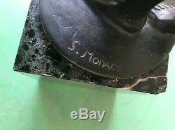 Belle sculpture bronze art déco 1930 signé S MONACO