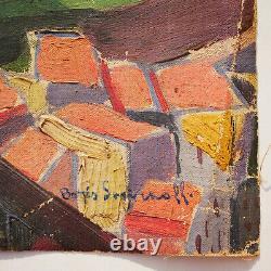 Boris Smirnoff (1895-1976) Les remparts d'Antibes Huile toile Tableau Peinture