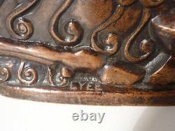 Bronze Art Déco ancien Pichet Antillope Signé Lyée de belleau