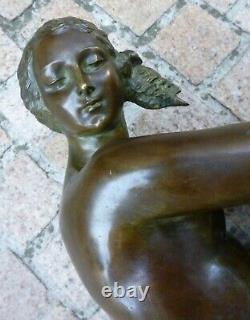 Bronze Nu Art-Deco signé de Joseph CORMIER 1869-1950 fonte Susse cire perdue