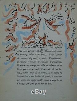 COCTEAU Jean Portrait de Mounet Sully 16 dessins originaux gouachés #1945