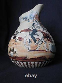 Ciboure, pichet art déco signé Etienne Vilotte (1945-51)