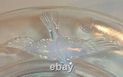 Coupe à fruits verre opalescent art déco signé