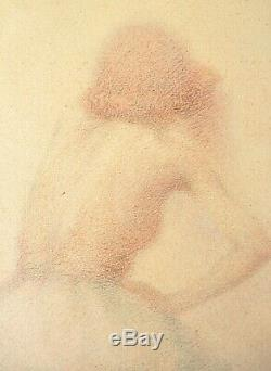 Danseuse Dessin aux crayons de couleur de Lucien BOULIER (1882-1963) Art Deco