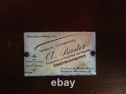 Desserte table 1900 de A. BASTET à Lyon signée