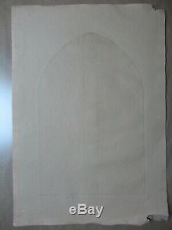 Etching Louis Icart Faust Goethe Devil Lady Pencil Signed Aquatint Art Deco 1928