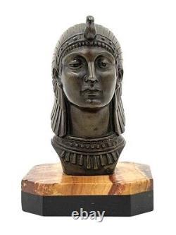 FRECOURT Mascotte Automobile ISIS Art Déco signée Antique Egyptian car mascot