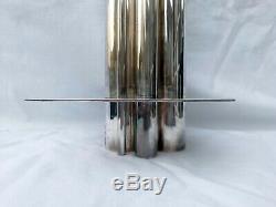 GIO PONTI et CHRISTOFLE. Vase Orgue en métal argenté coll. GALLIA
