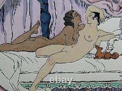 George Barbier GALANDOT LE ROMAIN Gravure Pochoir édition originale 1928