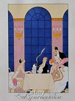 George Barbier LA GOURMANDISE 7 péchés capitaux Pochoir édition originale 1925